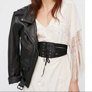 Free People Athletic Lace Up Corset Belt